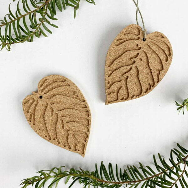Calathea Cork Botanical Ornaments